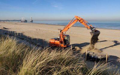 De strandtenten in Scheveningen gaan weer opbouwen, en Indigo dus ook!